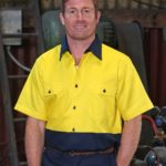 AIW Workwear Cotton Drill Safety Shirt Short Sleeve