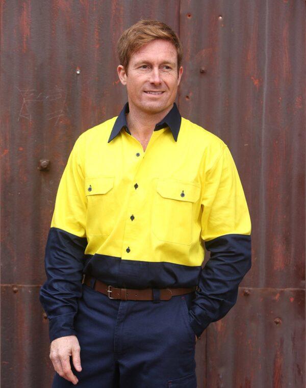 AIW Hi-Vis cotton drill shirt L/S
