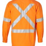 AIW Workwear Cotton Drill Safety Shirt with 3M Tape