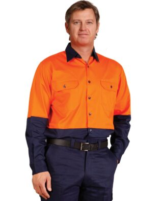 AIW Workwear Long Sleeve Cool Breeze Safety Shirt