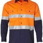 AIW Workwear Long Sleeve Cool Breeze Safety Shirt with 3M Tape