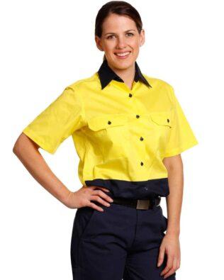 AIW Workwear Womens Short Sleeve Safety Shirt