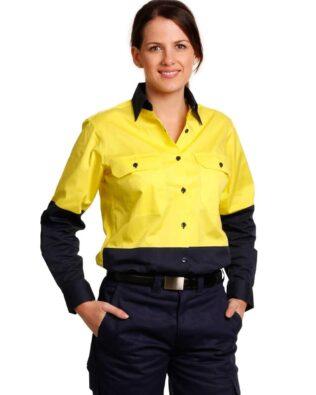 AIW Workwear Womens Long Sleeve Safety Shirt