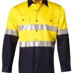 AIW Workwear Long Sleeve Safety Shirt with 3M Tape