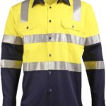 AIW Workwear Biomotion Day/Night Light Weight Safety Shirt With X Back Tape Configuration