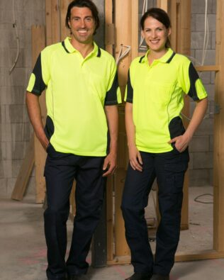 AIW Workwear Unisex Alliance Short Sleeve Safety Polo