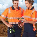 AIW Workwear Unisex Truedry Biomotion Segmented Ss Safety Polo