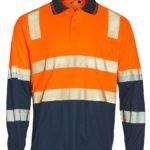 AIW Workwear Unisex Truedry Biomotion Segmented Ls Safety Polo