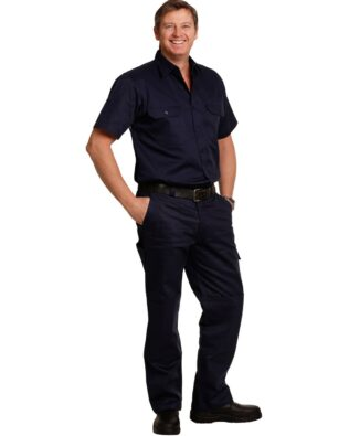 AIW Workwear Mens Heavy Cotton Drill Cargo Pants