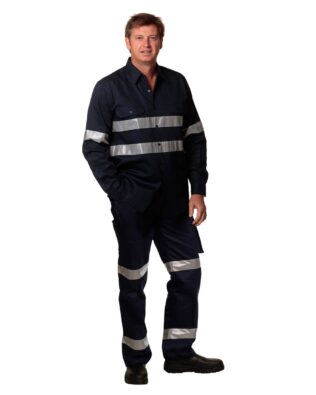 AIW Workwear Pre-Shrunk Drill Pants With 3M Tapes Stout Size