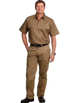 AIW Workwear Mens Heavy Cotton Pre-Shrunk Drill Pants Long Leg