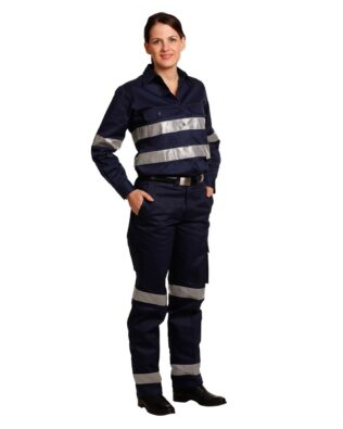 AIW Workwear Ladies Heavy Cotton Drill Cargo Pants With Biomotion 3M Tapes