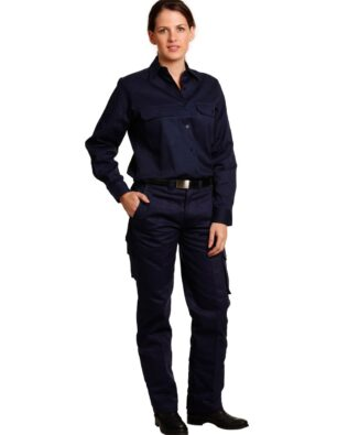 AIW Workwear Ladies Heavy Cotton Drill Cargo Pants