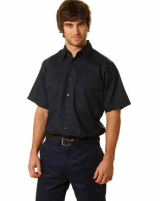AIW Workwear Cotton Drill Short Sleeve Work Shirt