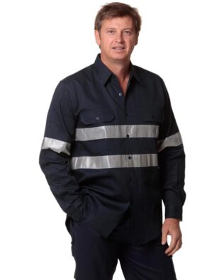 AIW Workwear Cotton Drill Work Shirt with 3M Tapes