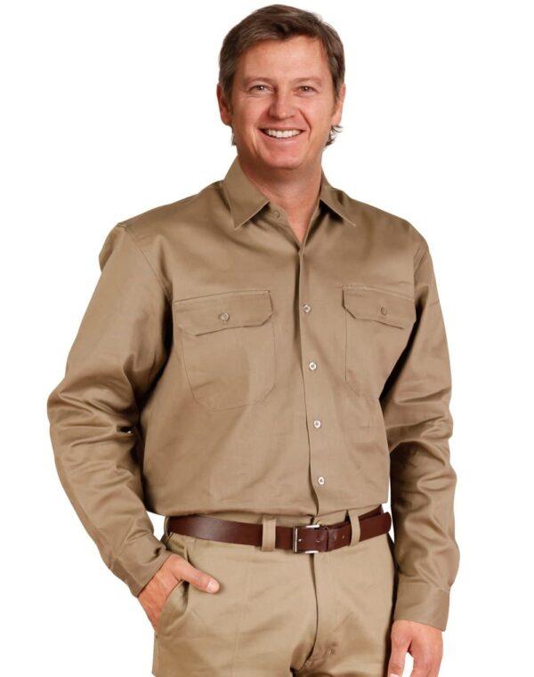 AIW drill shirt pocket pen holder L/S